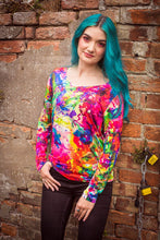 Load image into Gallery viewer, Long Sleeve Top in Artist Watercolour Digital Print Jersey -  - Megan Crook