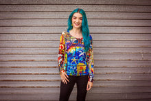 Load image into Gallery viewer, Long Sleeve Top in Stained Glass Digital Print Jersey -  - Megan Crook