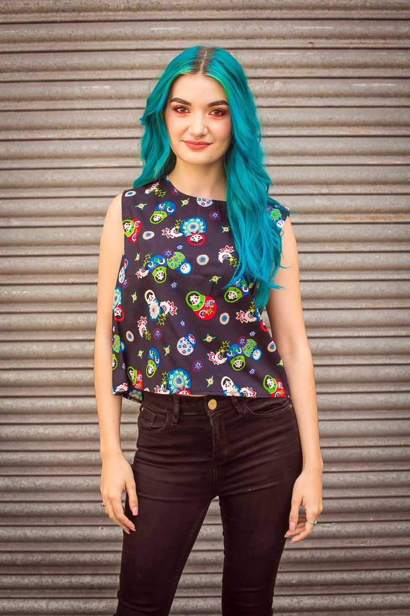 Shell Top in Russian Doll Print -  - Megan Crook