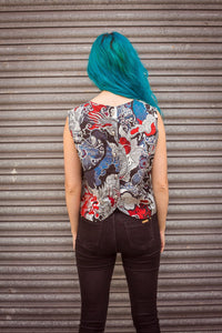 Shell Top in Dragon Print -  - Megan Crook