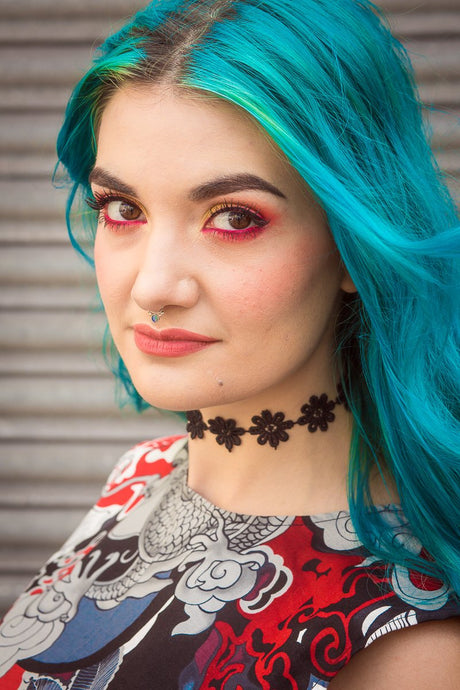 Choker Necklace in Black Daisy - Accessories - Megan Crook