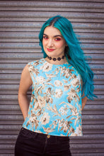 Load image into Gallery viewer, Shell Top in Blue Floral Print -  - Megan Crook