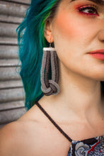 Load image into Gallery viewer, Knot Earrings in Black and Silver - Accessories - Megan Crook