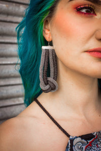 Knot Earrings in Black and Silver - Accessories - Megan Crook