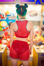 Load image into Gallery viewer, Mesh Bralette in Red - Top - Megan Crook