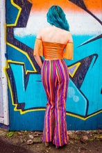 Load image into Gallery viewer, Corset Front Flares in Rainbow Stripes - Trouser - Megan Crook