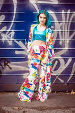 Load image into Gallery viewer, Palazzo Leg Trousers in Floral Print - Trouser - Megan Crook