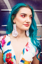 Load image into Gallery viewer, Celtic Knot Earrings in White Opal - Accessories - Megan Crook