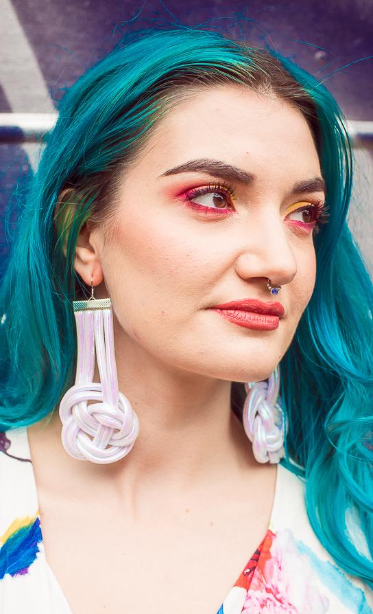 Celtic Knot Earrings in White Opal - Accessories - Megan Crook
