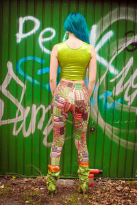 Leggings in Tribal Woodcut Print - Leggings - Megan Crook