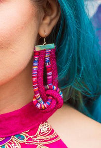 Knot Earrings in Aztec Pink - Accessories - Megan Crook