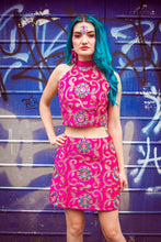 Load image into Gallery viewer, Embellished Mod Skirt in Pink - Skirt - Megan Crook