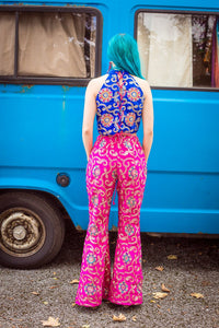 Corset Front Flares in Pink - Trouser - Megan Crook