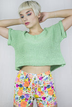 Load image into Gallery viewer, Neon Corset Shorts in Multicoloured Floral Stretch Denim - Shorts - Megan Crook