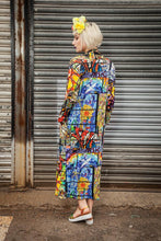 Load image into Gallery viewer, Jersey Maxi Cardi Stained Glass Digital Print Jersey - Cardigan - Megan Crook