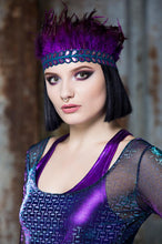 Load image into Gallery viewer, Feather Headdress in Purple - Accessories - Megan Crook