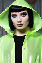 Load image into Gallery viewer, Rain Coat in Transparent Neon Yellow - Coat - Megan Crook