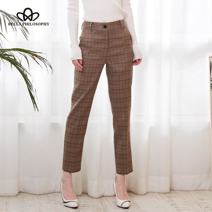 Casual Spring Basic Zipper Bottom Pants [Iamfashion_Inc]