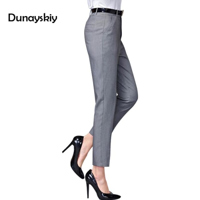 Ol Pantalom Spring Casual Waist Slim Work Wear Trousers [Iamfashion_Inc]