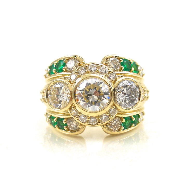 Emerald Accented Dream Ring