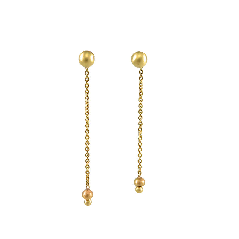 dangle earrings featuring yellow-gold chain for sale
