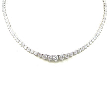 Load image into Gallery viewer, Three Prong Diamond Opera Necklace