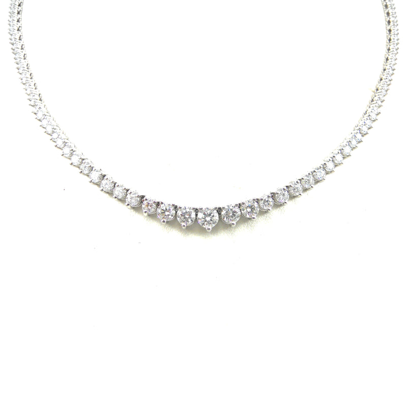 Three Prong Diamond Opera Necklace
