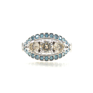 Blue Diamond Accented Dream Ring