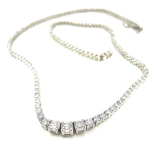 Load image into Gallery viewer, Four Prong Diamond Opera Necklace