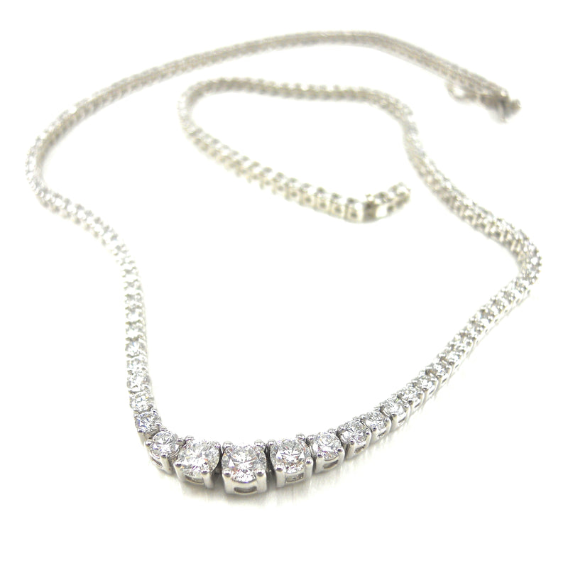 Four Prong Diamond Opera Necklace