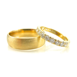 yellow gold mens wedding band and diamond and yellow gold wedding band