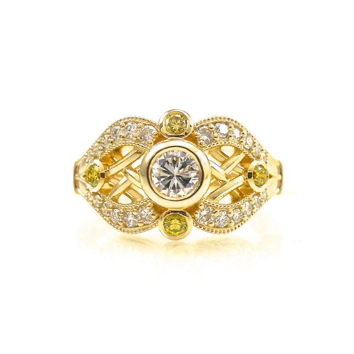 Canary Diamond Accented Woven Dream Ring