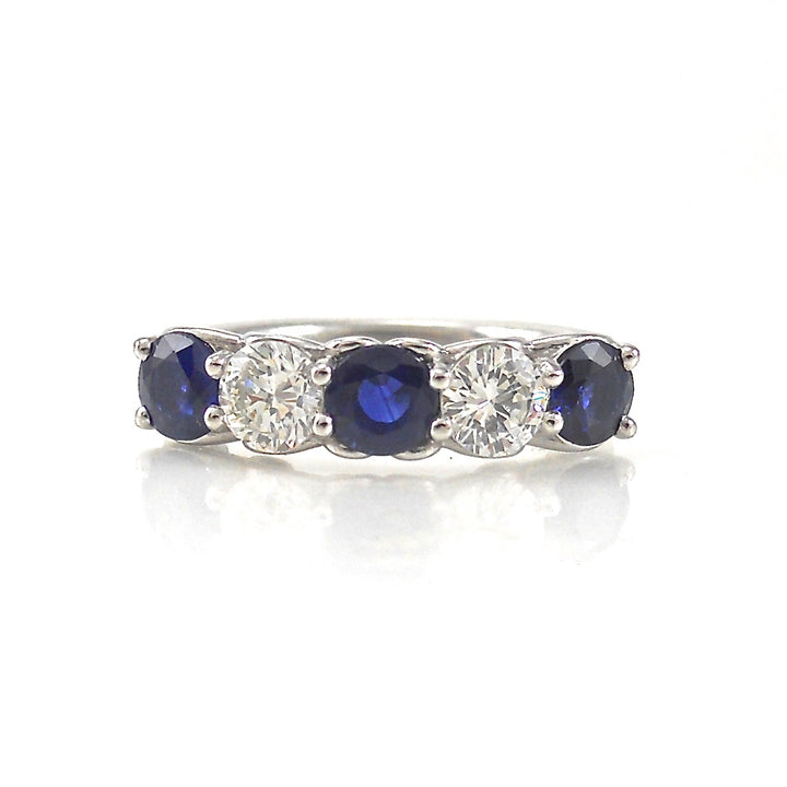 Diamond and Sapphire 5 stone ring