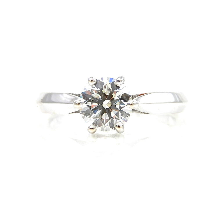 solitaire engagement ring set in crown