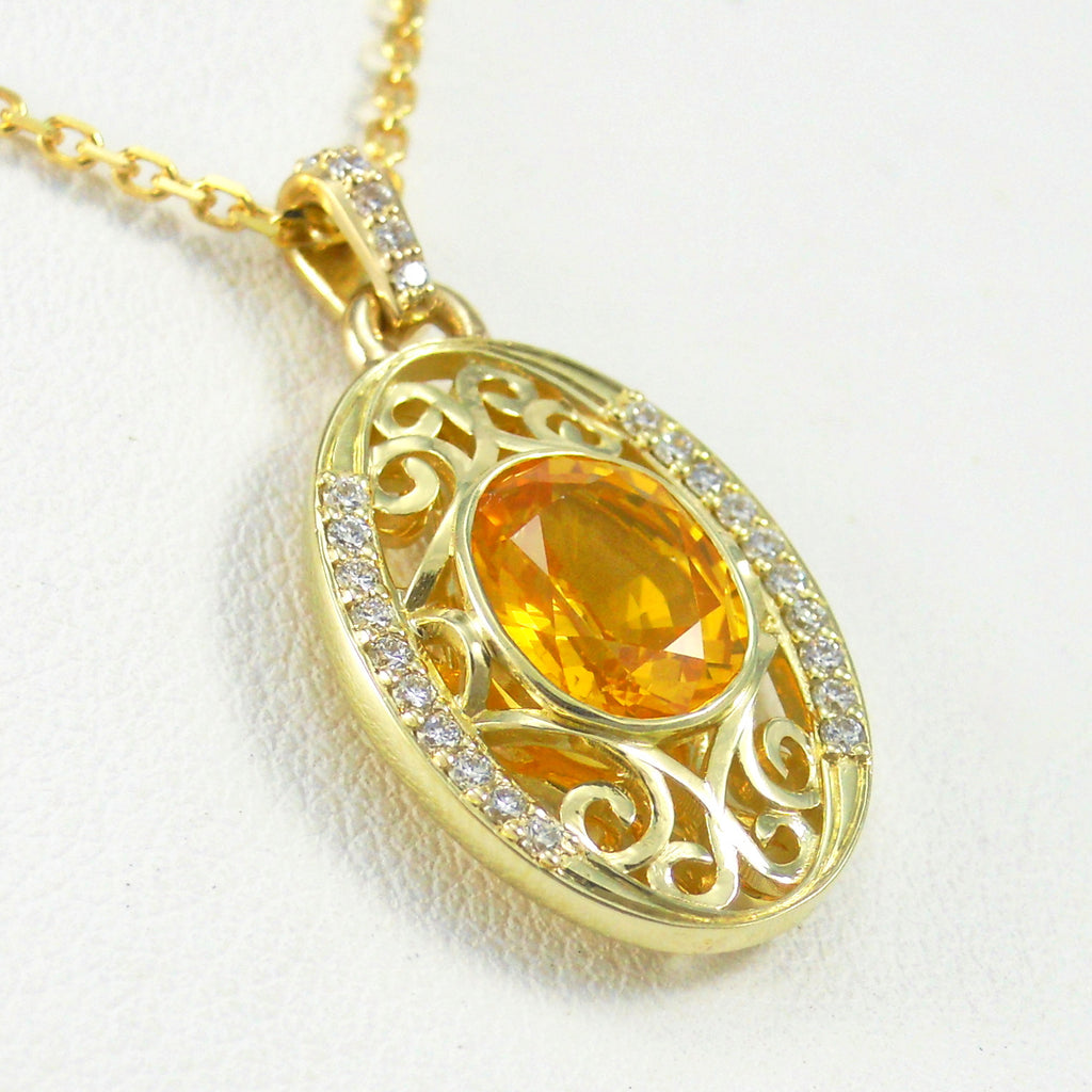 colored pendants yellow oval jewelry products wayne collections sapphire jason pendant stone img