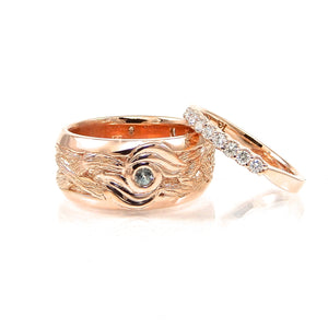 Rose Gold Vine Colletion Wedding Set