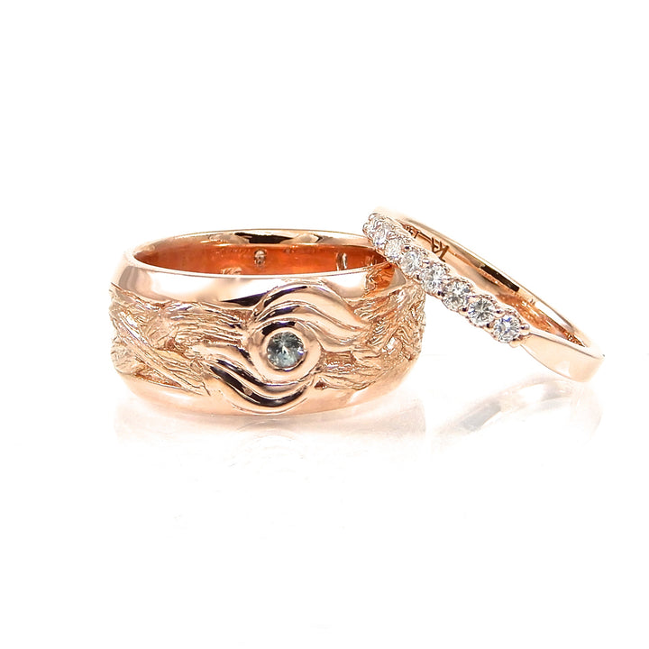 Rose Gold Vine Collection Wedding Set