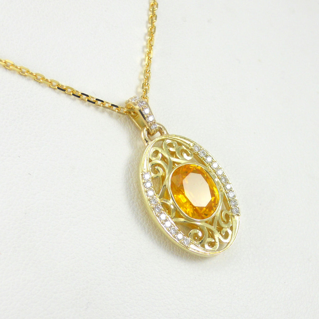 free jewelry today overstock tone yellow multi gold diamond sapphire product com pendant x watches shipping necklace