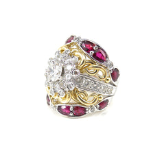 Load image into Gallery viewer, Diamond and Ruby Dream Ring