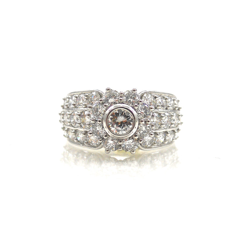 Halo and Pave Diamond Dream Ring