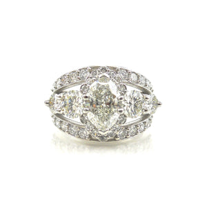 Marquise Scalloped Halo Dream Ring