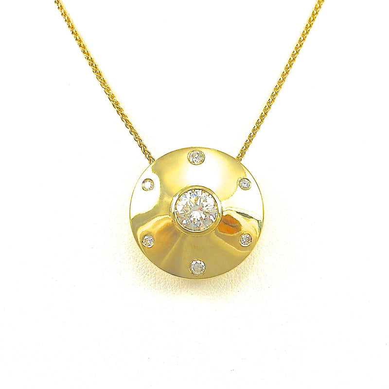 Diamod Disc Slide Pendant