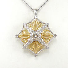 Load image into Gallery viewer, Two Tone Diamond Pendant