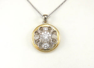 Two-Tone Diamond Pendant