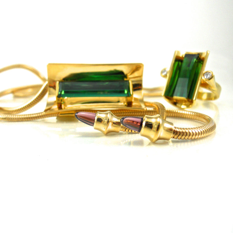 Design Award Winner Tourmaline set