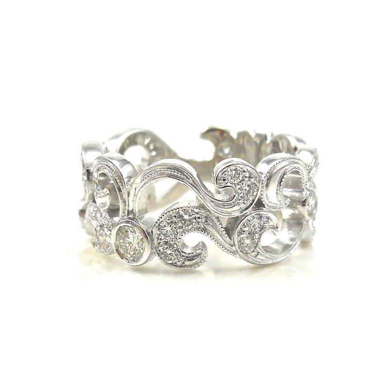 Diamond Accented Scrollwork Dream Ring