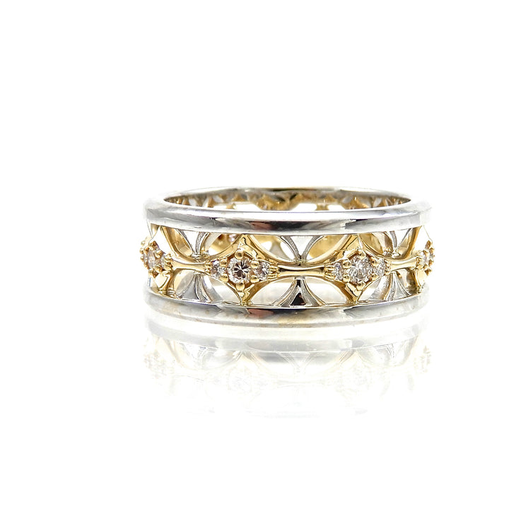 Diamond Two Tone Band