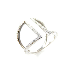 Diamond Open Bar Ring