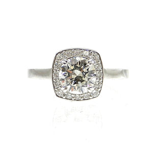 custom diamond halo custom engagement ring