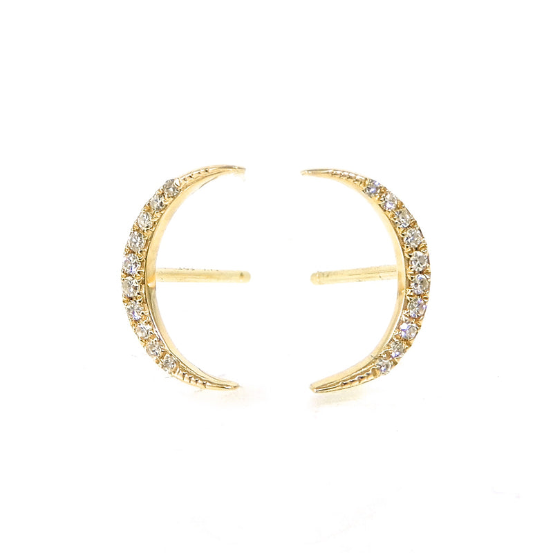 Diamond Moon Studs